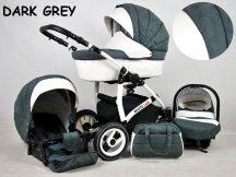 White Lux multifunkciós babakocsi - Dark grey