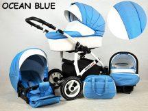 White Lux multifunkciós babakocsi - ocean blue