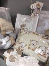 Babaágynemű garnitúra -bézs holdas maci