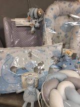 Babaágynemű garnitúra (kék bébi elefánt)